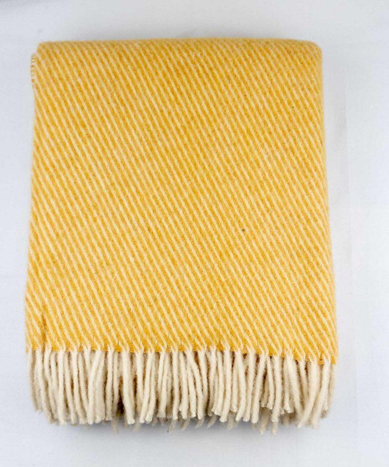 Wolldecke gelb