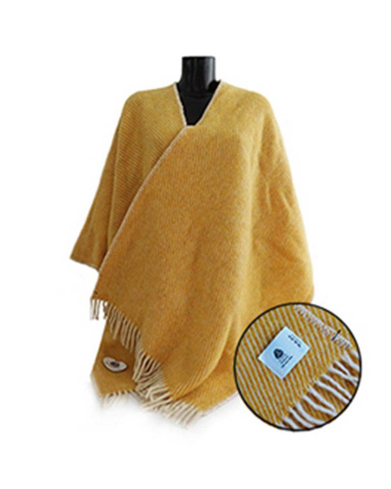 Woll-Poncho gelb